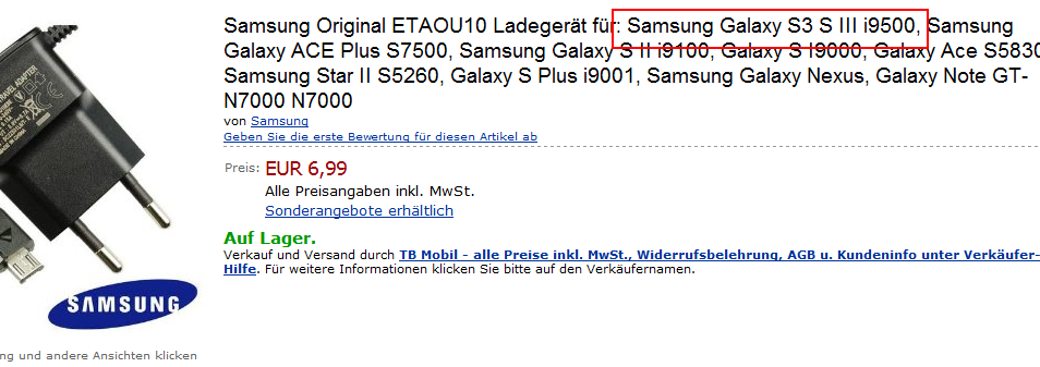 samsung-galaxy-s3-gti9500-amazon-lader Samsung Galaxy S3 duikt op op Duitse Amazon (update: GT-i9500)