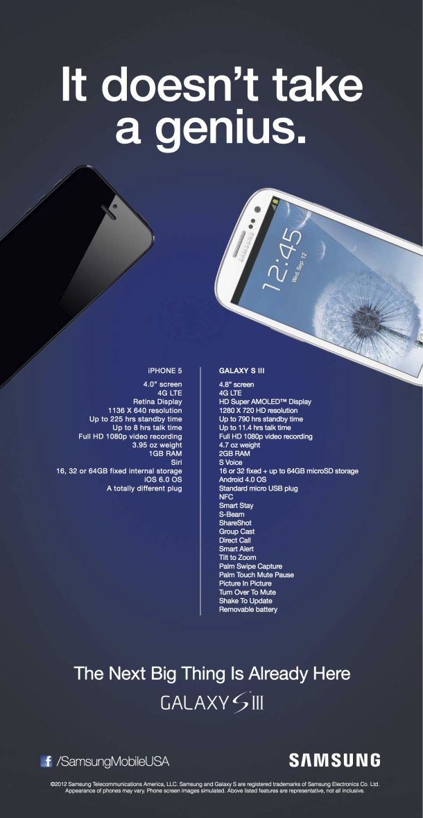 iphone-5-galaxy-s3-advertentie iPhone 5 versus Galaxy S3, de reclame versie (update: nu met spotje)