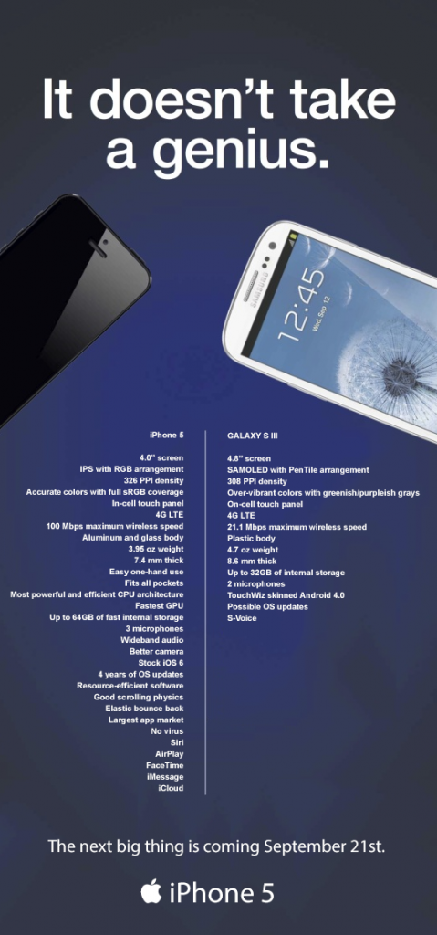 iphone-5-v-galaxy-s3-advertentie iPhone 5 versus Galaxy S3, de reclame versie (update: nu met spotje)