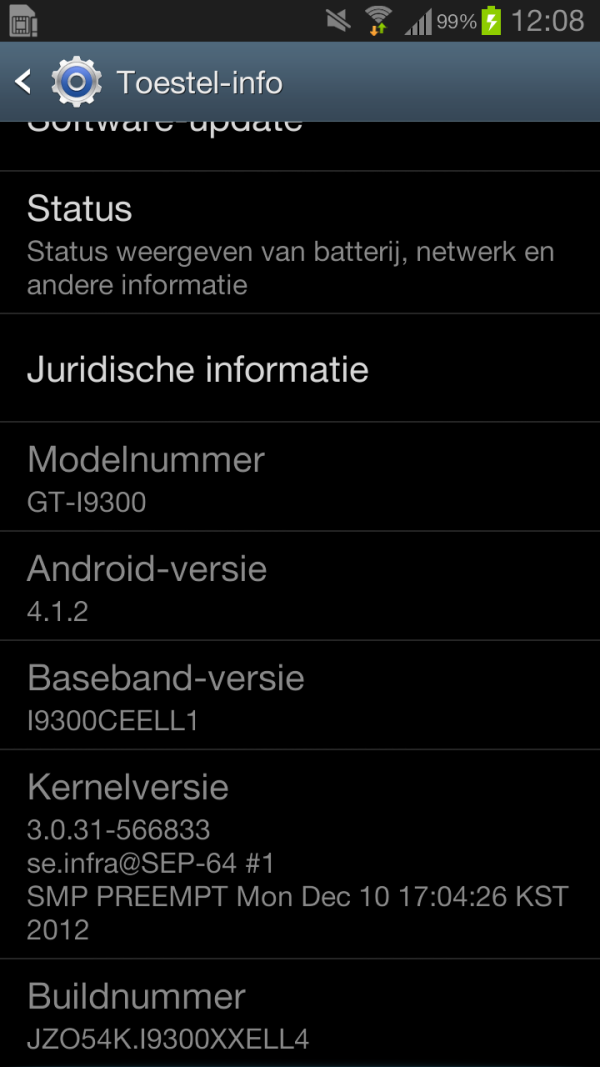 Screenshot_2013-01-07-12-08-55 En... daar is hij dan: de Android 4.1.2 update voor de Samsung Galaxy S3 (update: +Vodafone)