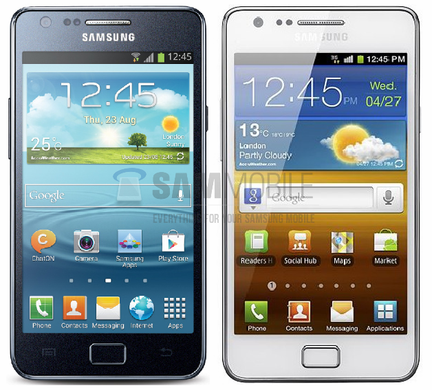 samsung-galaxy-s2-plus-versus-galaxy-s2 De Samsung Galaxy S2 Plus: design van de Galaxy S2?