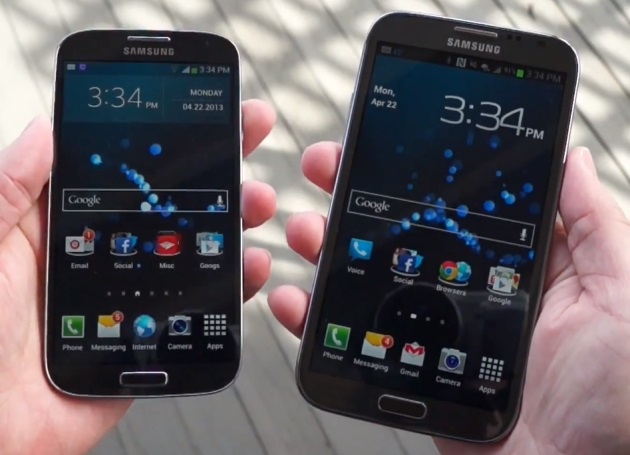 samsung-galaxy-note-2-versus-galaxy-s4-vergelijking Video: Samsung Galaxy Note 2 versus de Galaxy S4