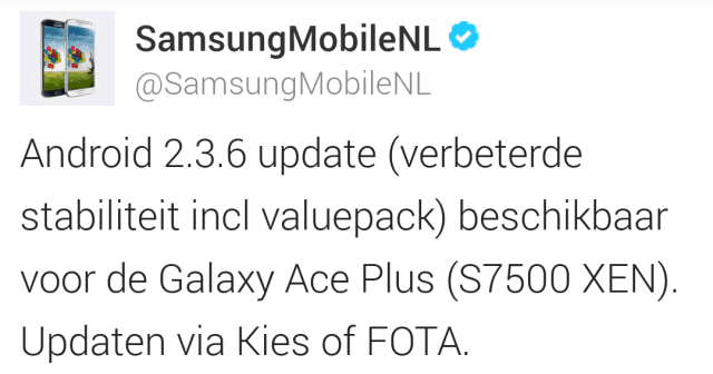 samsung-galaxy-ace-plus-value-pack-update Update voor de Samsung Galaxy Ace Plus beschikbaar