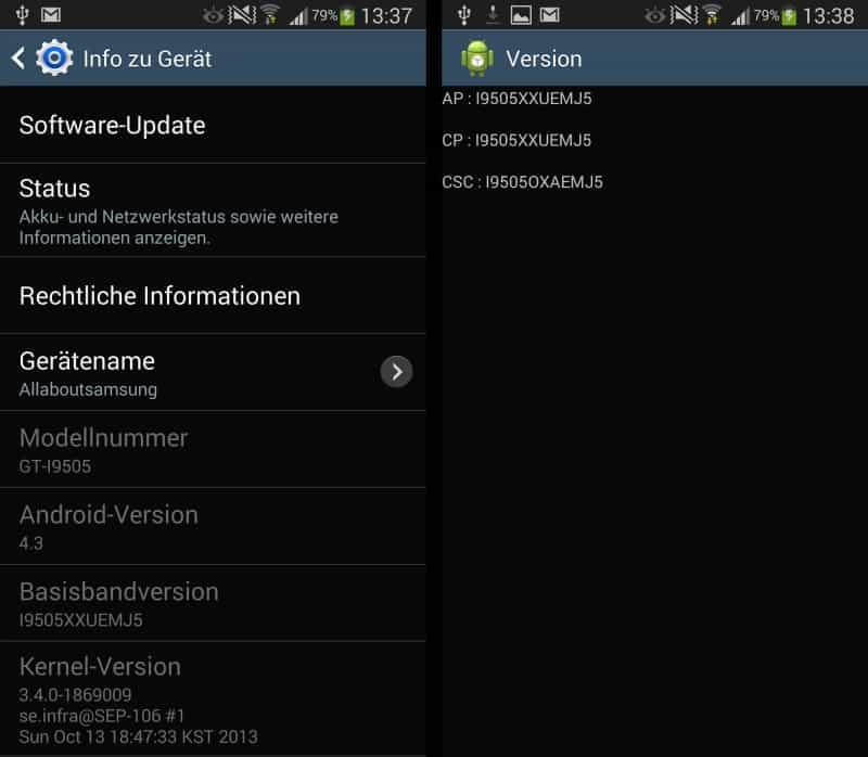Android 4.3 Update Voor Samsung Galaxy S4 In Duitsland Van