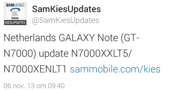 samsung-galaxy-note-1-update Kleine update voor de eerste Samsung Galaxy Note