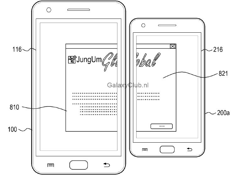 samsung-multi-display-patent-galaxy-s5-1 Vergeet Multiwindow, dit is Multidisplay - een mogelijke feature van de Samsung Galaxy S5