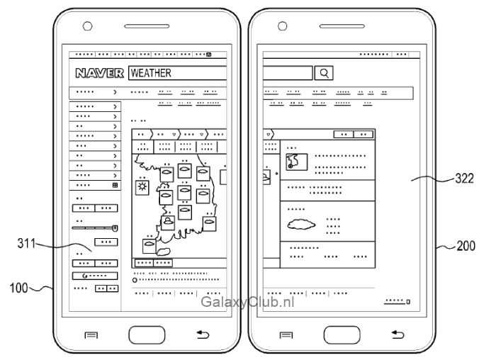 samsung-multi-display-patent-galaxy-s5-2 Vergeet Multiwindow, dit is Multidisplay - een mogelijke feature van de Samsung Galaxy S5