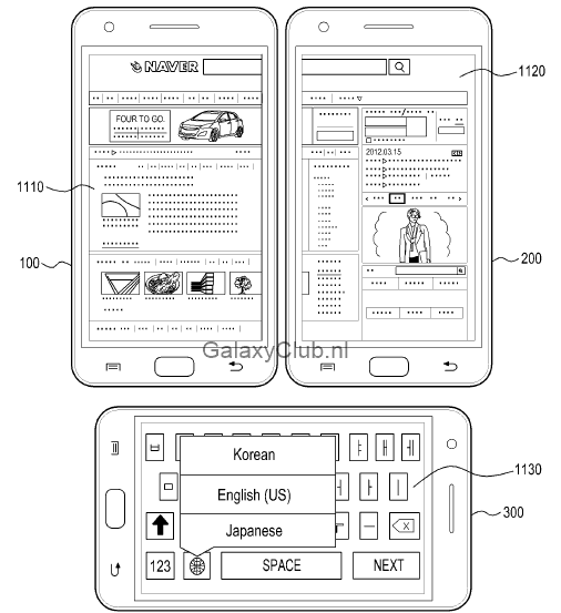 samsung-multi-display-patent-galaxy-s5-5 Vergeet Multiwindow, dit is Multidisplay - een mogelijke feature van de Samsung Galaxy S5
