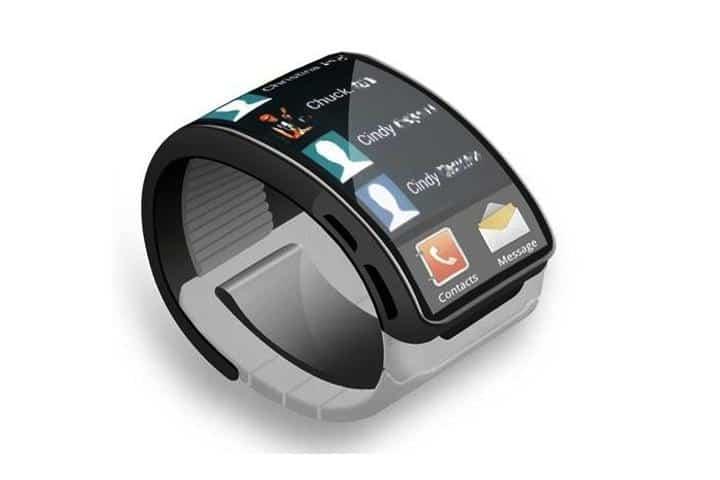 Geen paniek, het is maar een concept! Maar wellicht dat de Galaxy Gear 2 toch eindelijk  een gebogen scherm krijgt...