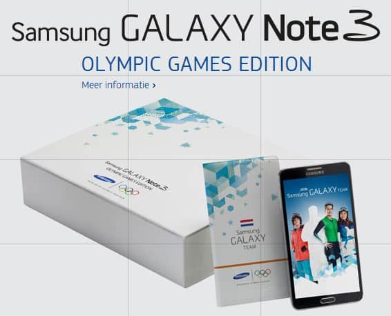 samsung-galaxy-note-3-olympic-games-edition Samsung Galaxy Note 3 Olympic Games Edition (update: tijdelijk 100 euro cashback!)