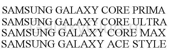 samsung-galaxy-core-prima-ultra-max-ace-style-uspto Samsung Galaxy Core Prima, Ultra, Max en Galaxy Ace Style in aantocht?