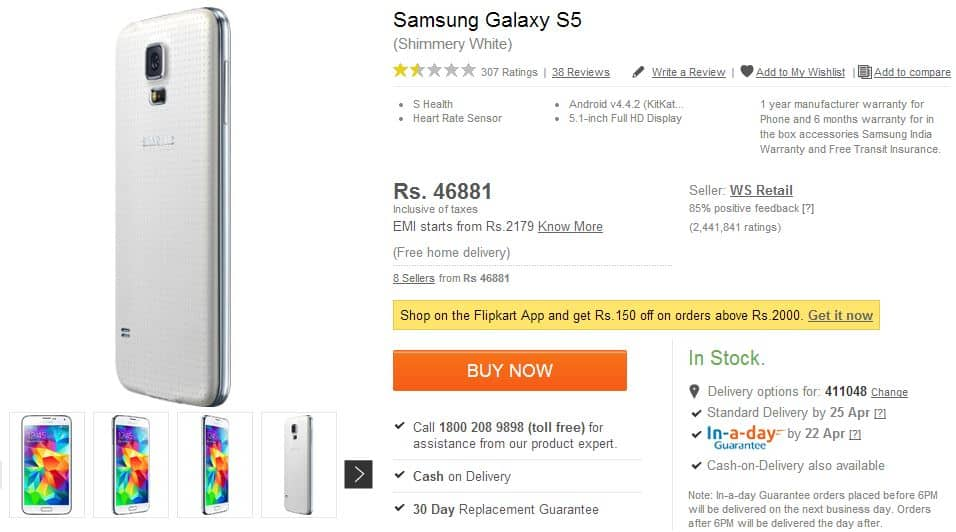 s5-india-price-cut-1 Vroege prijsverlaging Galaxy S5 in India
