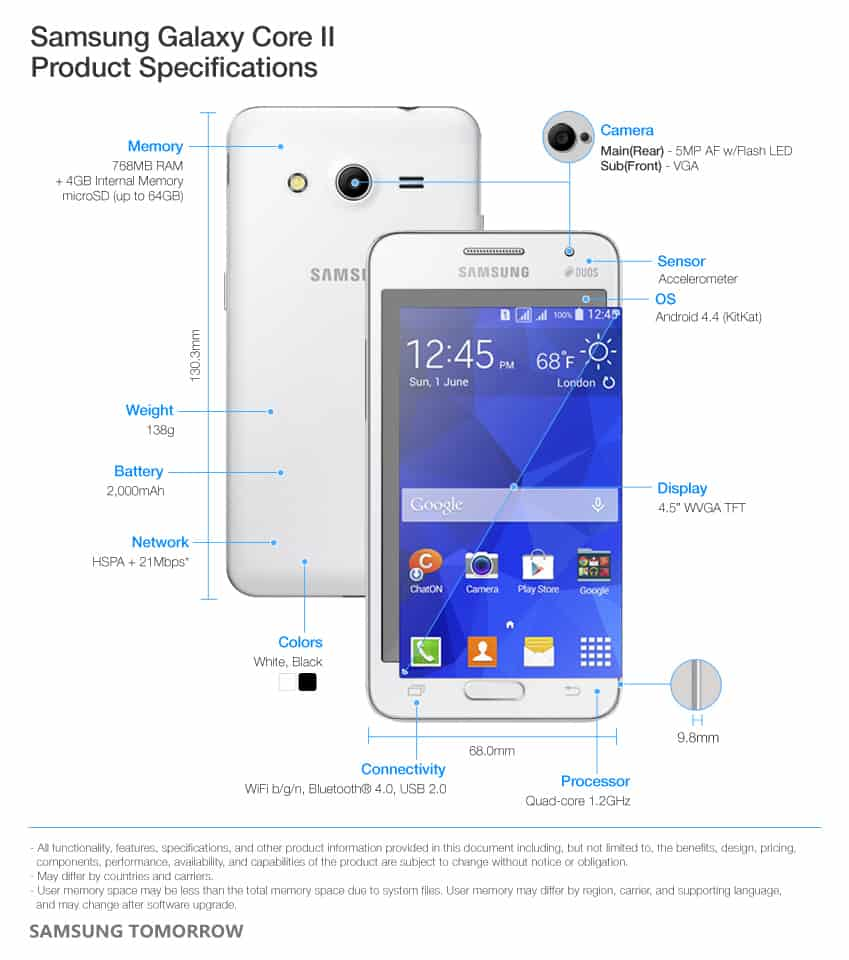 samsung-galaxy-core-2-specs En daar is de Samsung Galaxy Core 2