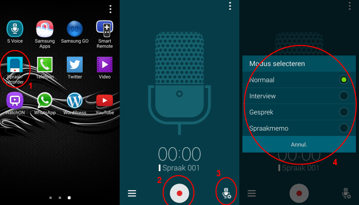 samsung-galaxy-s5-spraakrecorder-interview-opnemen