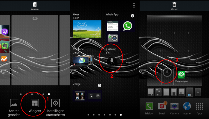 samsung-galaxy-s5-widgets-zaklamp Samsung Galaxy S5 tips: zaklamp en vergrootglas widgets