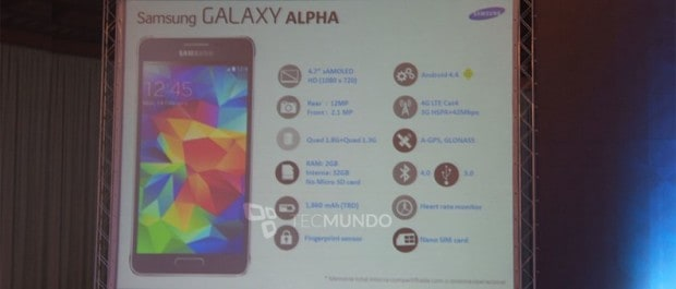 samsung-galaxy-alpha-technische-specificaties Samsung Galaxy Alpha al getoond in Rusland, alle specificaties nu bekend