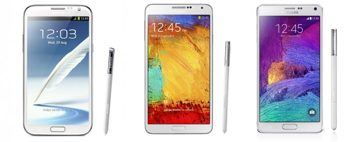 samsung-galaxy-note-4-versus-galaxy-note-3-versus-galaxy-note-2-design Uitgelicht: het design van de Samsung Galaxy Note 4