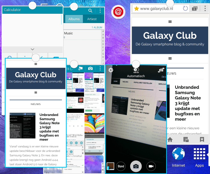 samsung-galaxy-note-4-multiwindow-pop-up-venster-2 Vergelijking: Samsung Galaxy S6 versus Galaxy Note 4