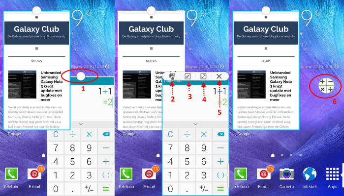 samsung-galaxy-note-4-multiwindow-pop-up-vensters Samsung Galaxy Note 4 tip: doe vééél tegelijk