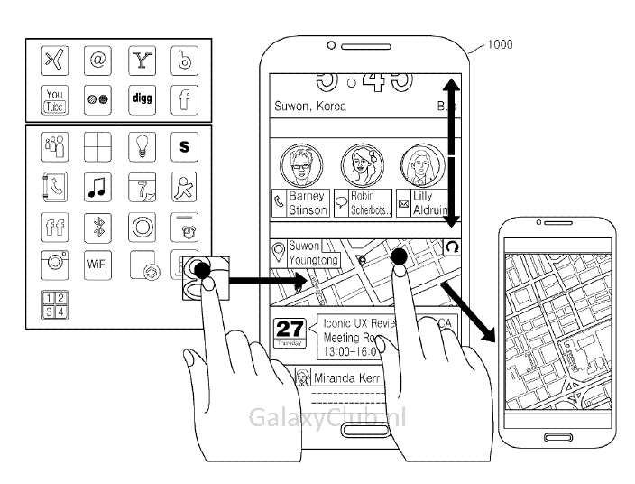 samsung-interface-patent-5 Nieuw interface concept Samsung duikt op in patent (Iconic UX?)