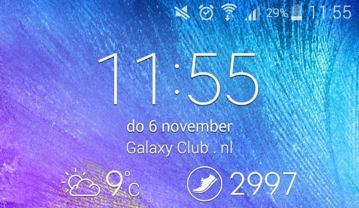 Samsung Galaxy Note 4 Tip Pas Je Vergrendel Scherm Aan