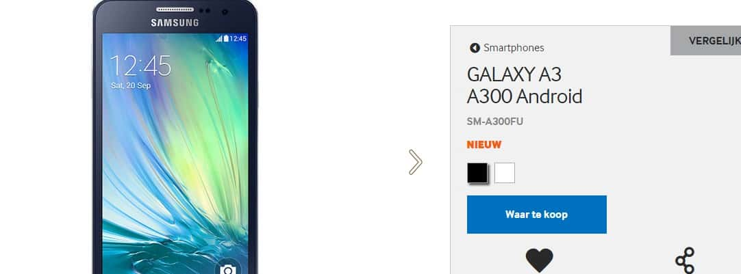 samsung-galaxy-a3-website Galaxy A3 nu officieel op Samsung's eigen website
