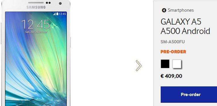 Galaxy A5 nu te bestellen bij Samsung zelf, zal op termijn Galaxy ...