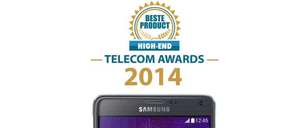 samsung-galaxy-note-4-telecom-awards Samsung Galaxy Note 4: beste high end smartphone