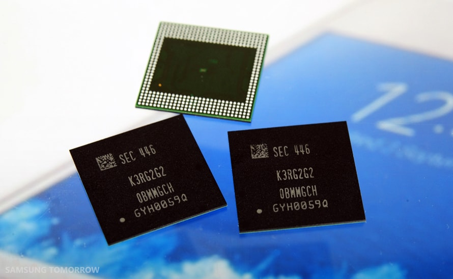 samsung-galaxy-s6-4gb-lpddr4-ram Samsung start massaproductie 8 gigabit LPDDR4 geheugen modules (Galaxy S6?)