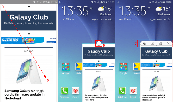 samsung-galaxy-s6-pop-up-venster-gebruiken Samsung Galaxy S6 (Edge) multitasking tips: Multiwindow en Pop-up weergave
