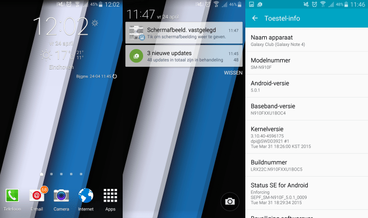 unbranded-galaxy-note-4-android-lollipop-update-nederland-11 Android Lollipop update Samsung Galaxy Note 4 arriveert in Nederland (update 24 april: unbranded en T-Mobile)