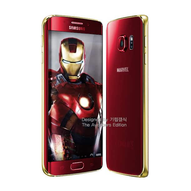 samsung-galaxy-s6-rood-iron-man Rode Iron Man versies van de Samsung Galaxy S6 en S6 Edge in de maak