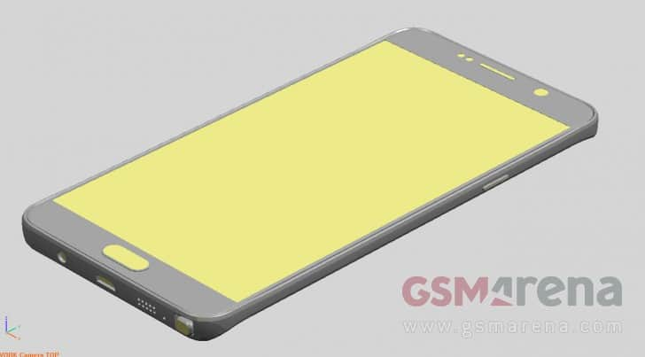 samsung-galaxy-note-5-render 'Onthulling Samsung Galaxy Note 5, S6 Edge Plus op 12 augustus' (update: nieuwe renders + Note 5 later in NL?)