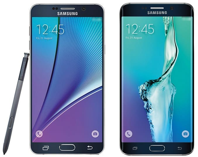 samsung-galaxy-note-5-en-s6-edge-plus-render 'Galaxy Note 5 wordt duurder dan de Galaxy S6 Edge Plus'