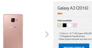 samsung-galaxy-a3-2016-roze-300x158 Samsung Galaxy A3 (2016) en Galaxy A5 (2016) nu ook in roze uitvoering opgedoken