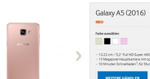 samsung-galaxy-a5-2016-roze-300x158 Samsung Galaxy A3 (2016) en Galaxy A5 (2016) nu ook in roze uitvoering opgedoken