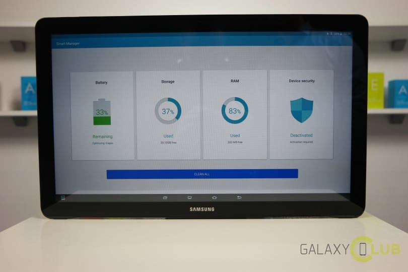 Galaxy View review Smart Manager