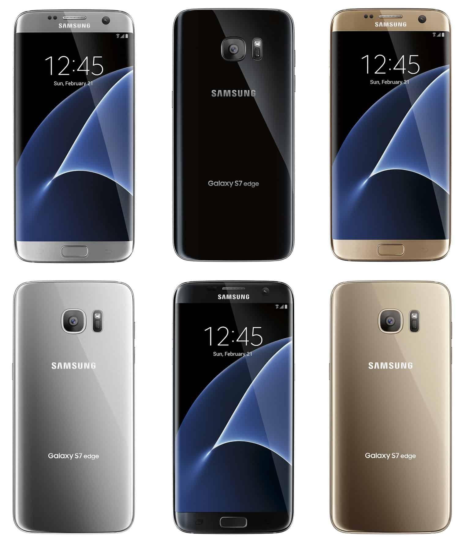 Samsung Galaxy S7 en S7 Edge te zien in drie kleurvarianten