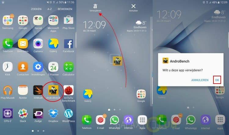 Samsung Galaxy S7 Edge Tip Ongewenste Apps Verwijderen