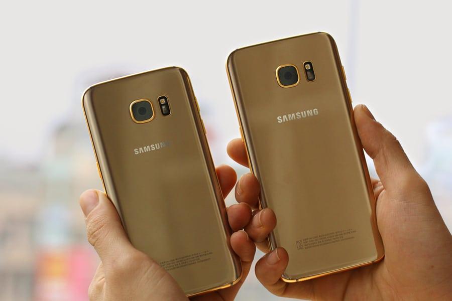 Karalux-S7-2 En daar is 'ie dan! De 24K gouden Galaxy S7 (Edge)