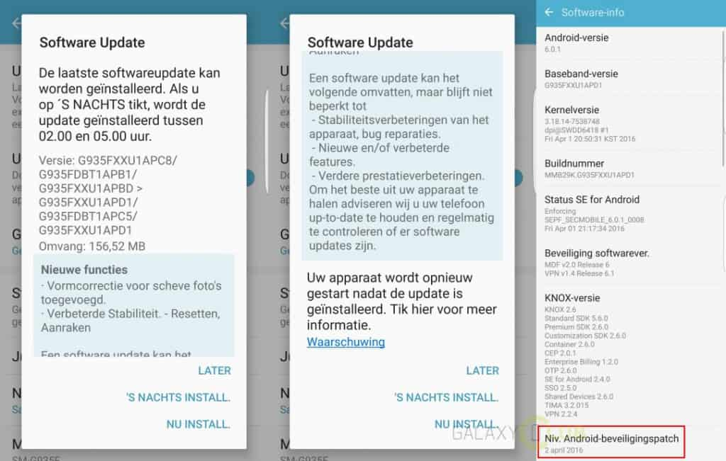 samsung-galaxy-s7-edge-firmware-update-nederland-xxu1apd1-1024x651 Update Samsung Galaxy S7 en S7 Edge brengt verbeteringen en april security patch (21-4: unbranded S7 Edge ook)