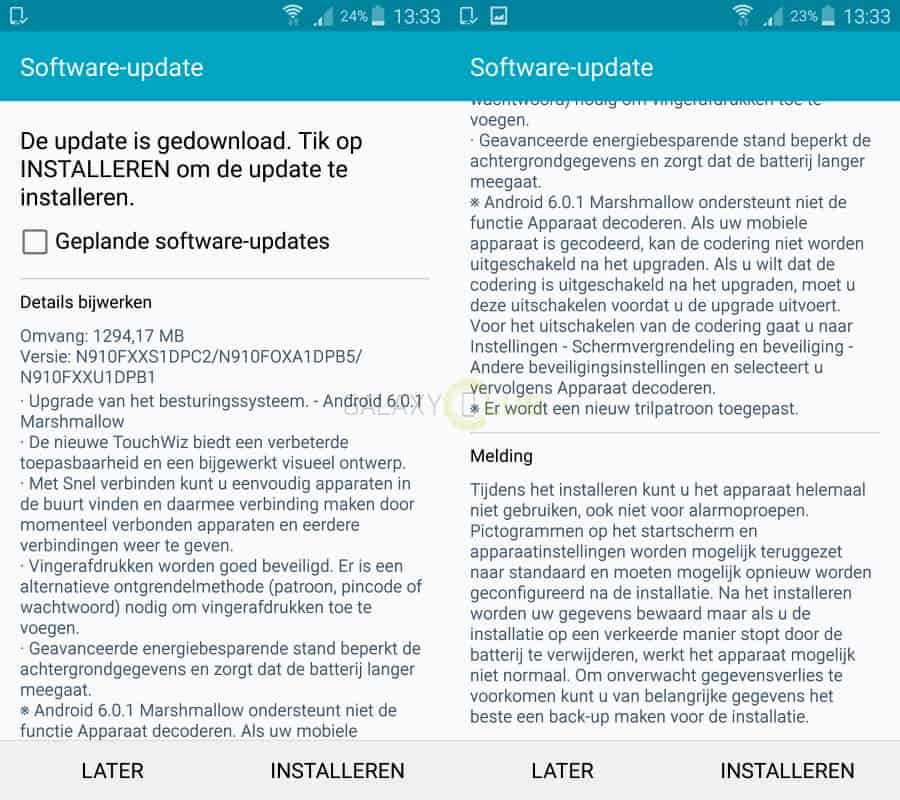 galaxy-note-4-android-marshmallow-update-nederlands-changelist Android Marshmallow arriveert op Galaxy Note 4 SM-N910F (update 24-6: unbranded)