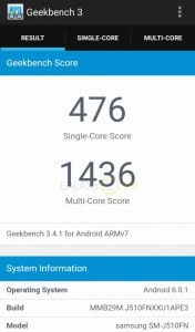 samsung-galaxy-j5-2016-geekbench-test-176x300 Benchmarks: de Samsung Galaxy J5 (2016) in getalletjes