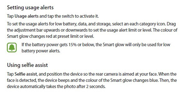 samsung-smart-glow-feature-2 Samsung komt met 'Smart Glow' feature, alternatief voor notificatie LED