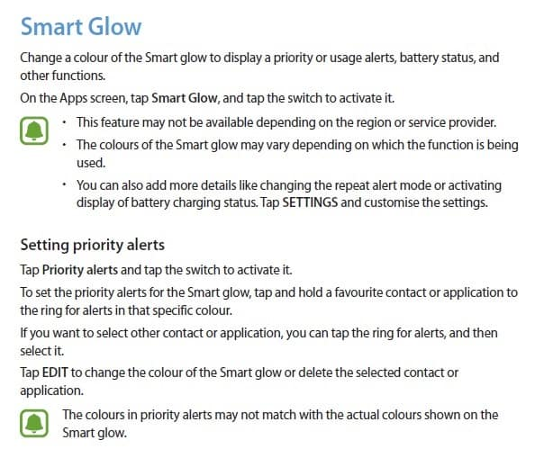 samsung-smart-glow-feature Samsung komt met 'Smart Glow' feature, alternatief voor notificatie LED