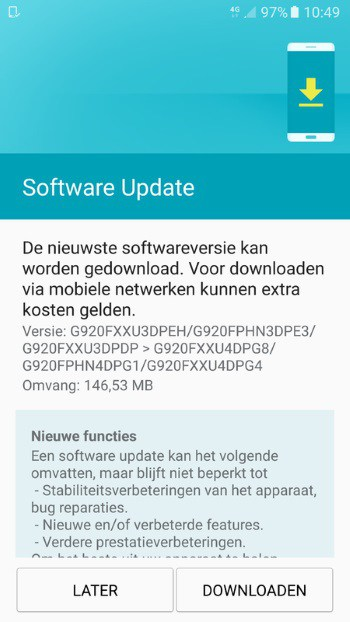 galaxy-s6-juli-patch Samsung Galaxy S6 serie juli security patches: unbranded S6 & S6 Edge Plus
