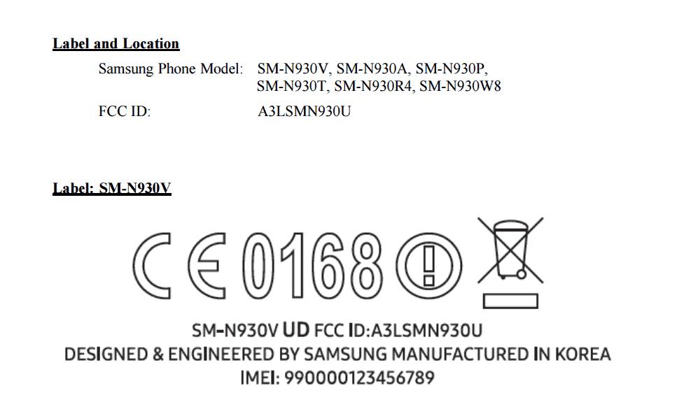 samsung-galaxy-note-7-fcc FCC keurt Amerikaanse versies Samsung Galaxy Note 7