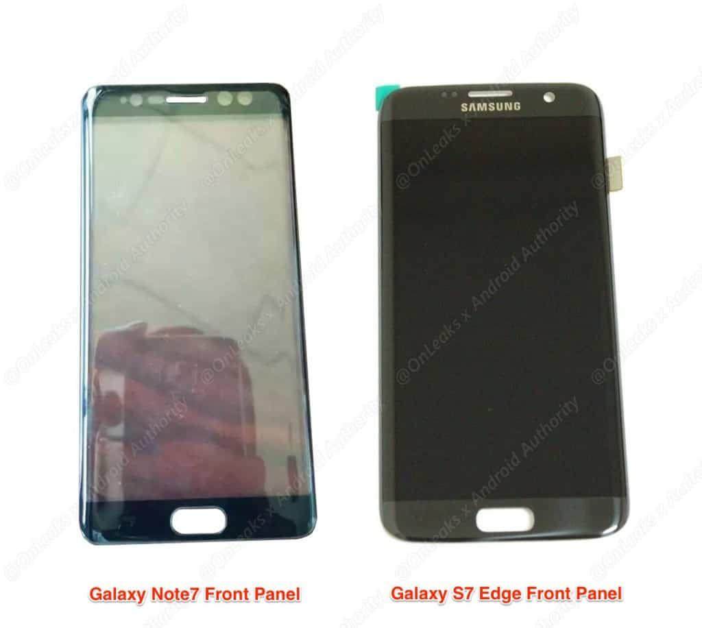 samsung-galaxy-note-7-versus-s7-edge-voorkant-vergelijking-1024x916 Voorkant Samsung Galaxy Note 7 lijkt irisscanner te bevestigen