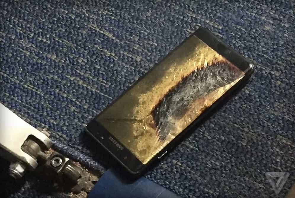 galaxy-note-7-brand Samsung onderzoekt ontvlammende nieuwe Galaxy Note 7