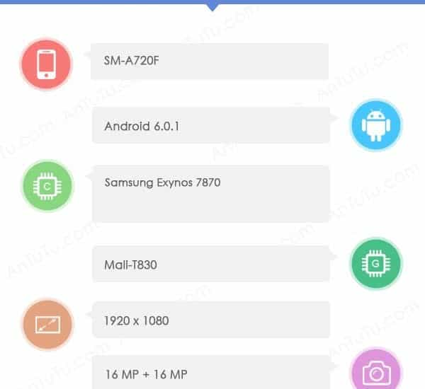 samsung-galaxy-a7-2017-specs Specificaties Samsung Galaxy A7 (2017) bevestigd in benchmark